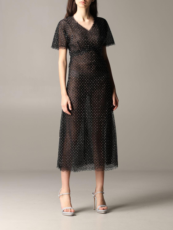 Ermanno Scervino Dress Ermanno Scervino Lace Dress With Rhinestones
