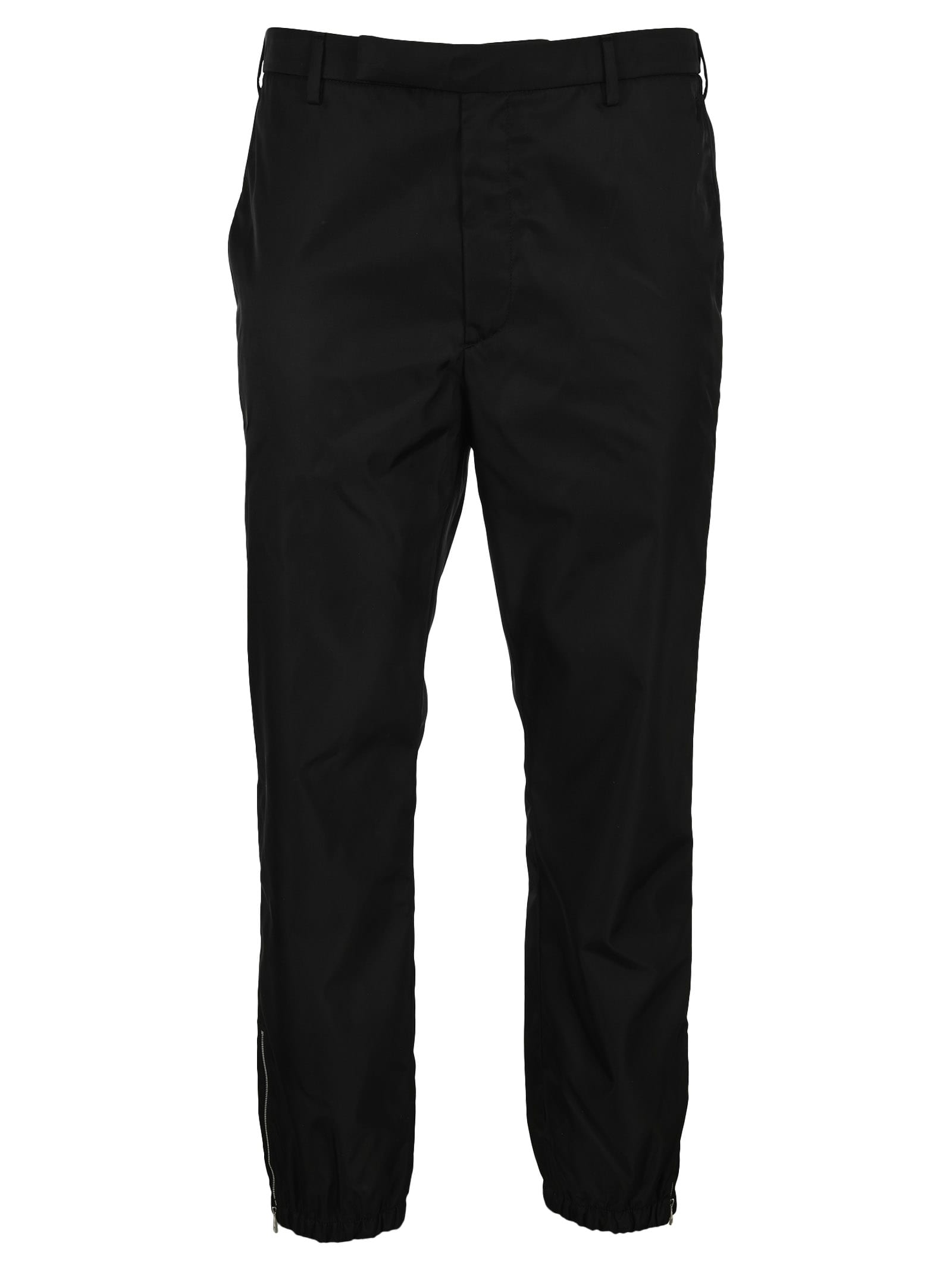 Prada Re-nylon Trousers In Black