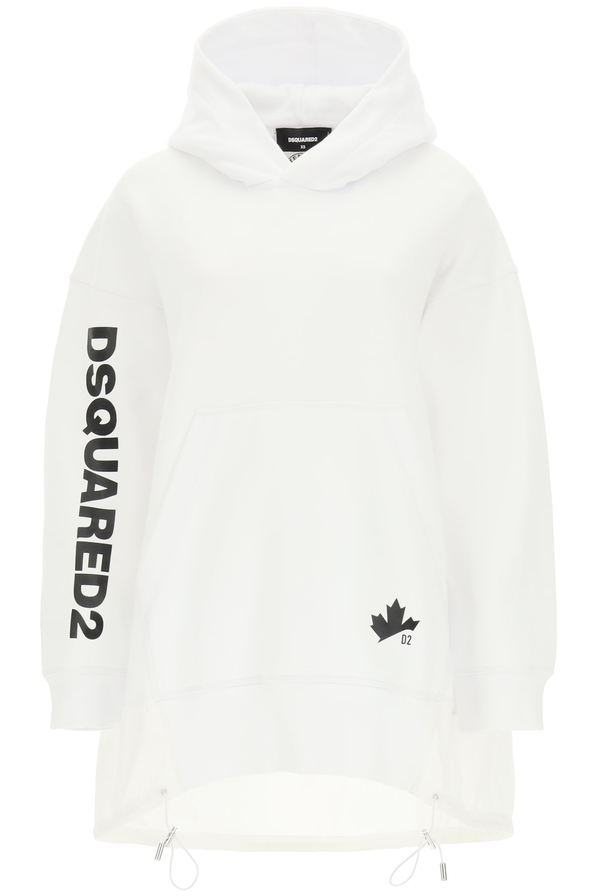 Dsquared2 Cottons OVERSIZED SWEATSHIRT WITH NYLON INSERT