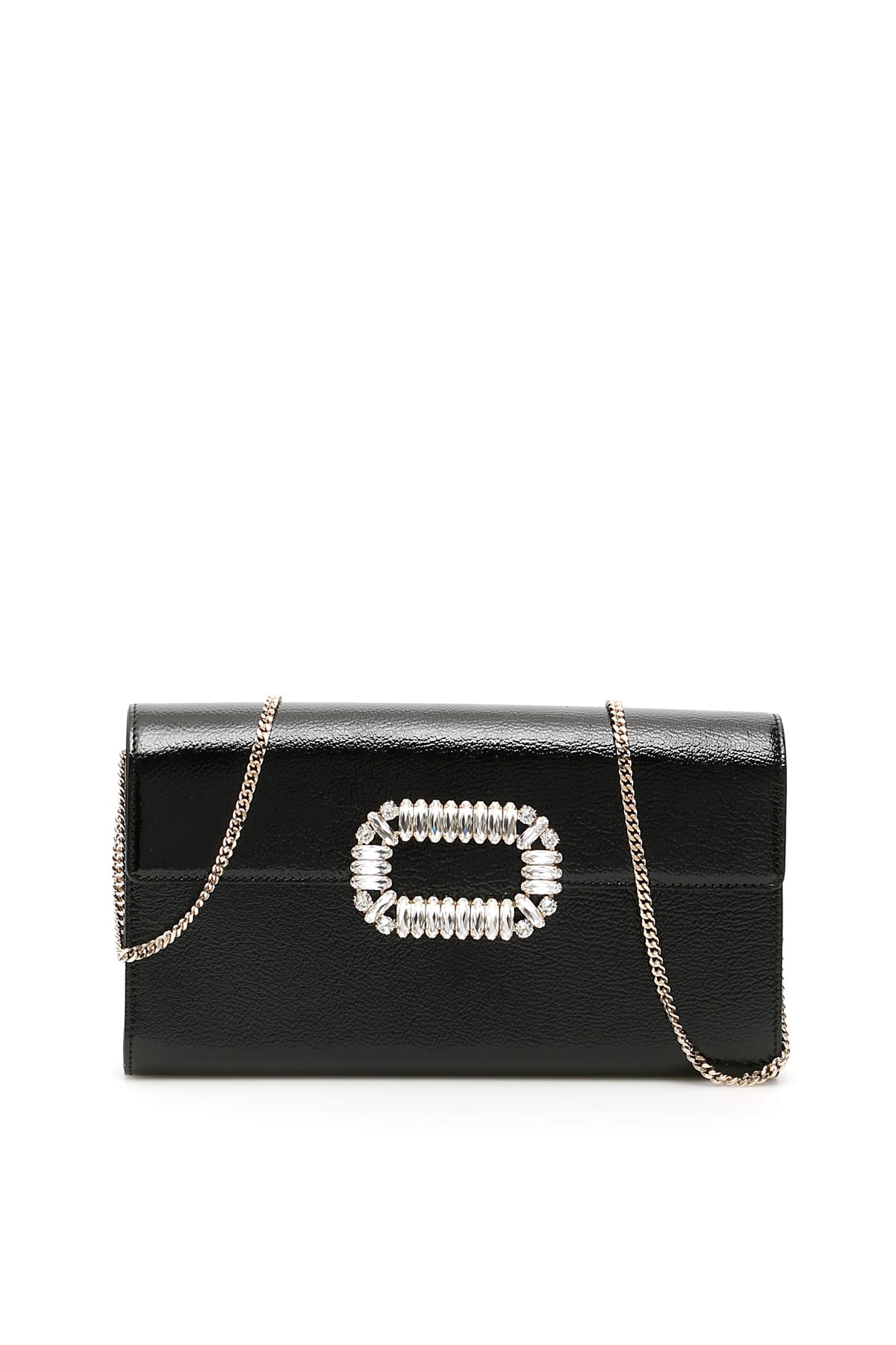 Roger Vivier Crystal Buckle Envelope Clutch
