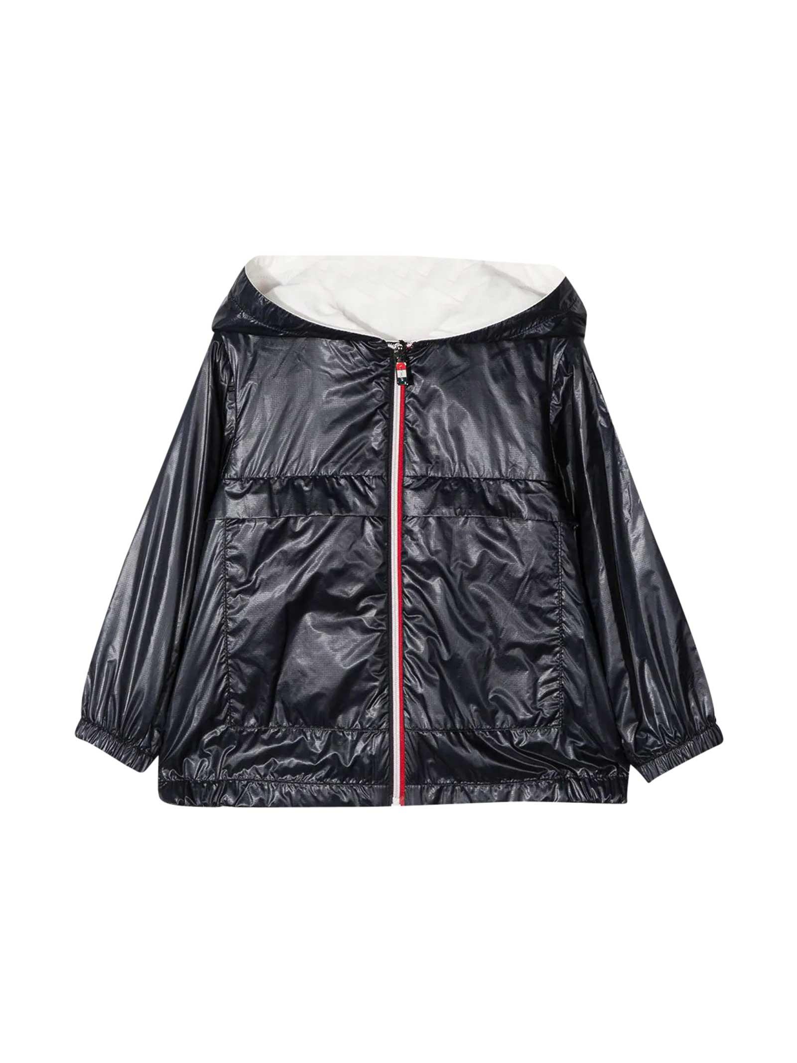 Moncler Black Waterproof Jacket Moncler Enfant