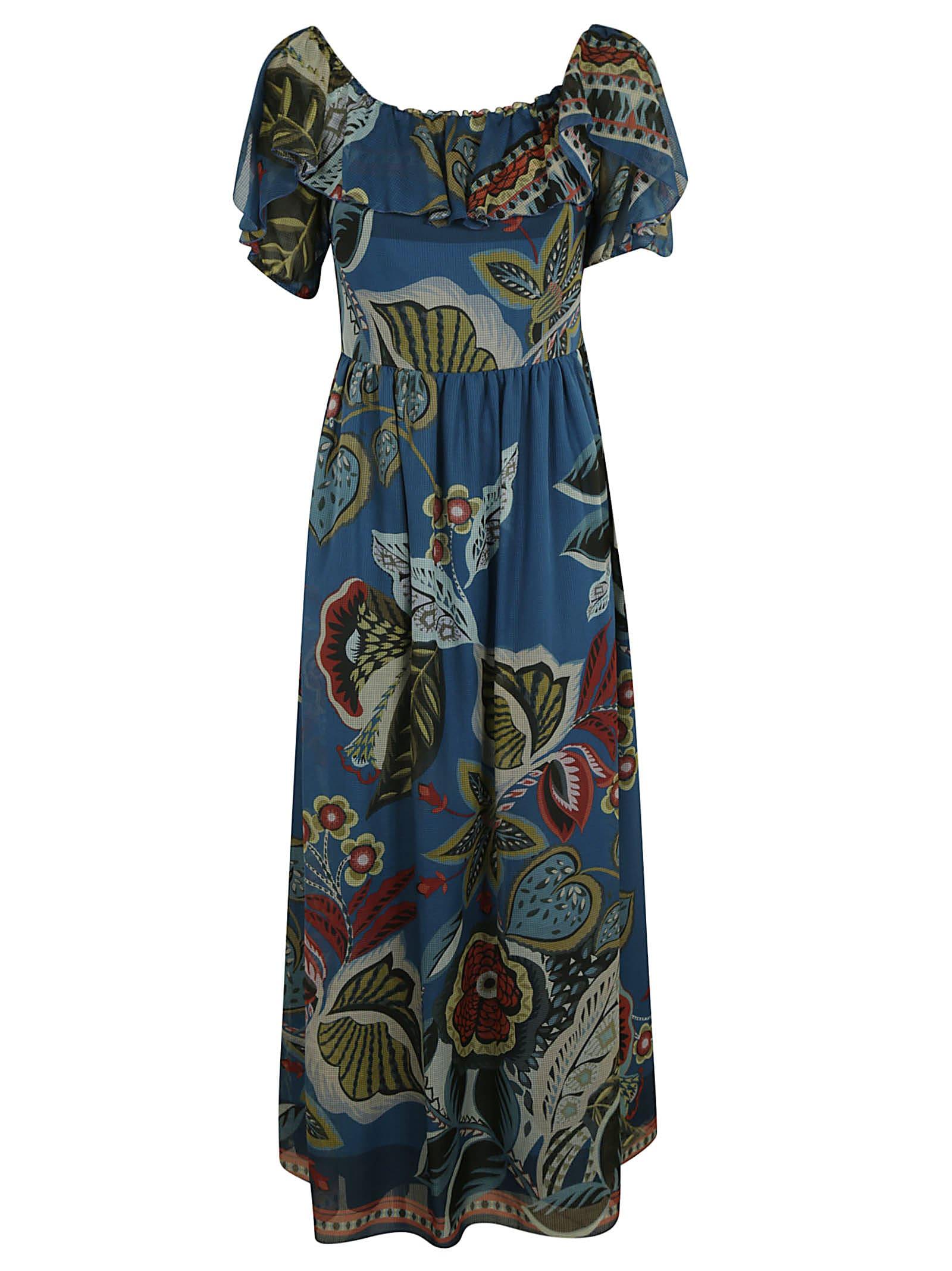 RED Valentino Printed Ruffled Dress