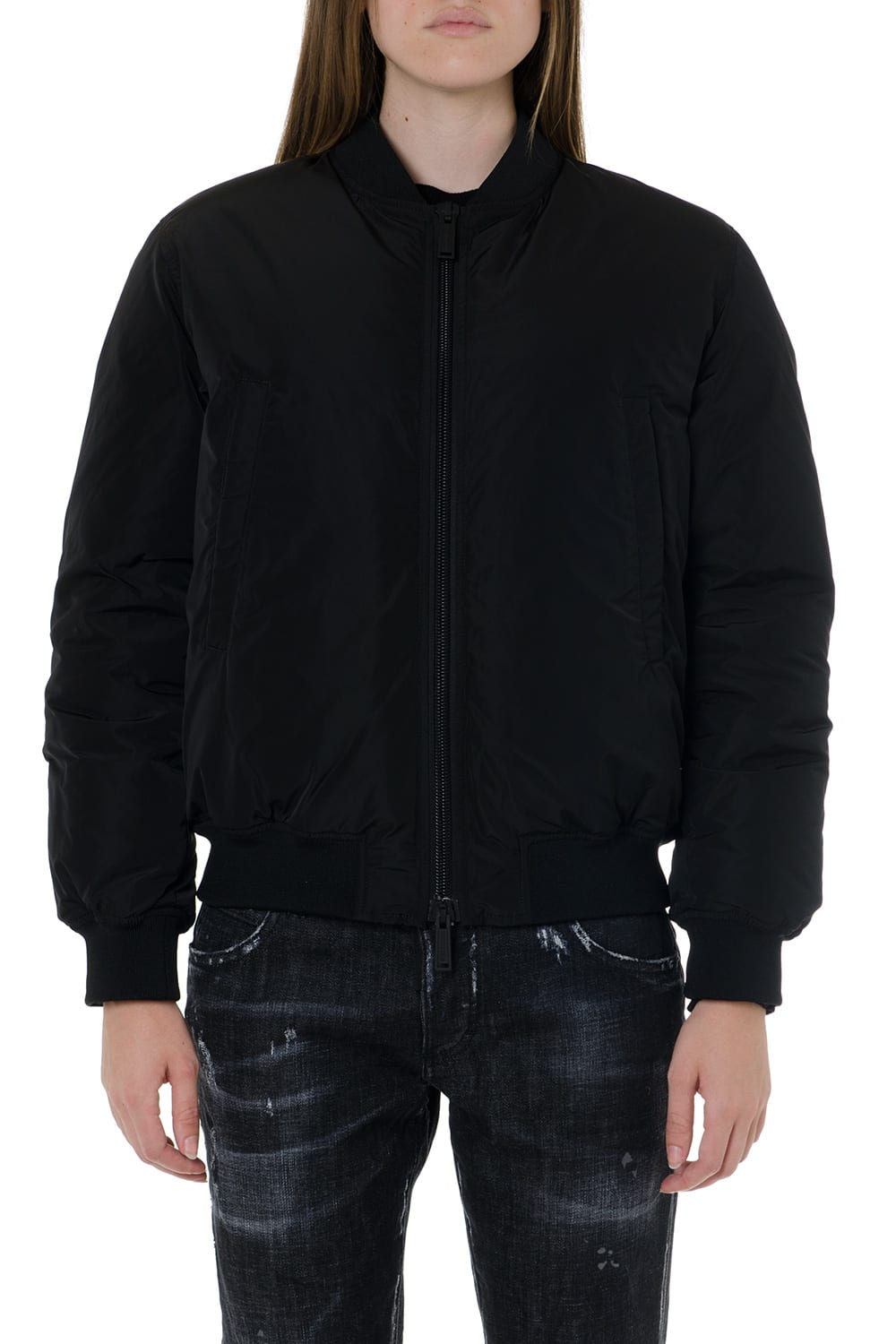 Dsquared2 Icon Black Bomber Jacket
