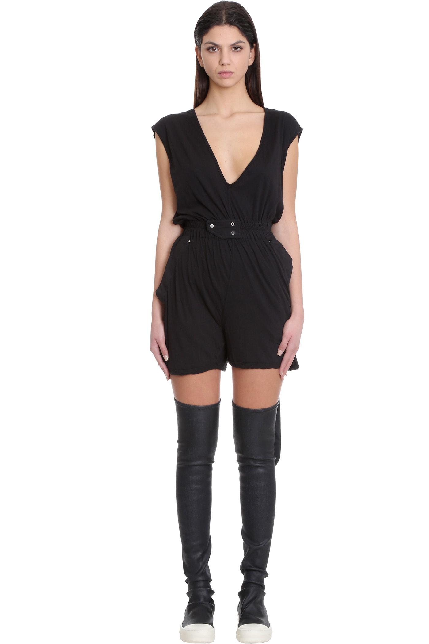 Bodybag Suit In Black Cotton