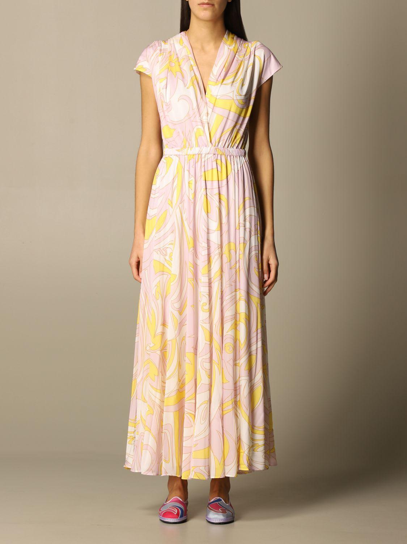 Emilio Pucci Dress Emilio Pucci Long Dress In Printed Viscose