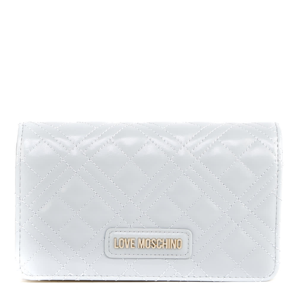 Love Moschino Ice Quilted Faux Leather Wallet
