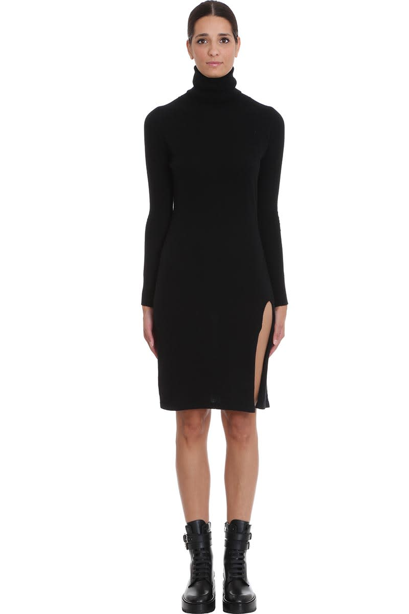 Laneus Dress In Black Wool
