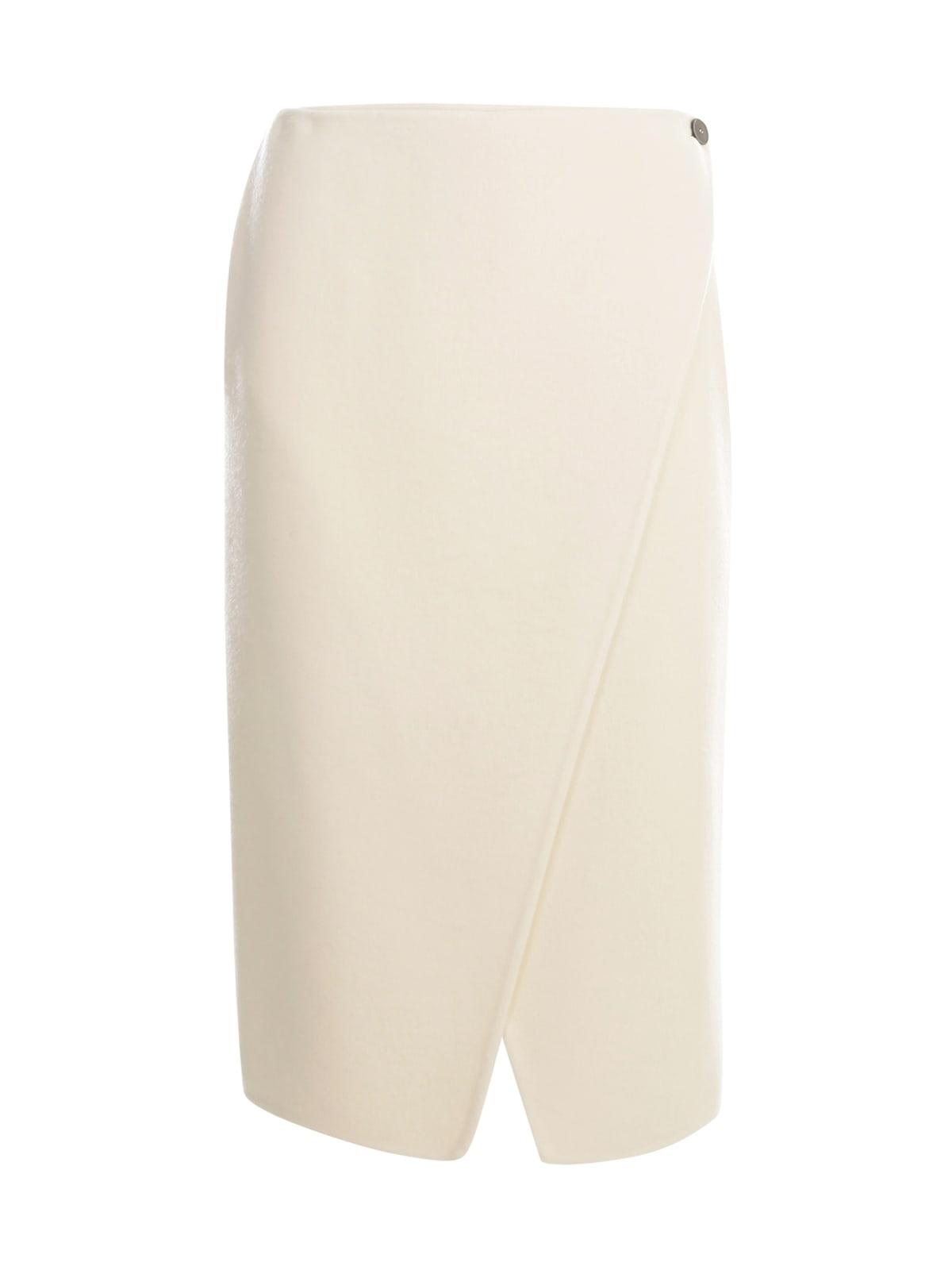 Straight Skirt W/slit On Bottom
