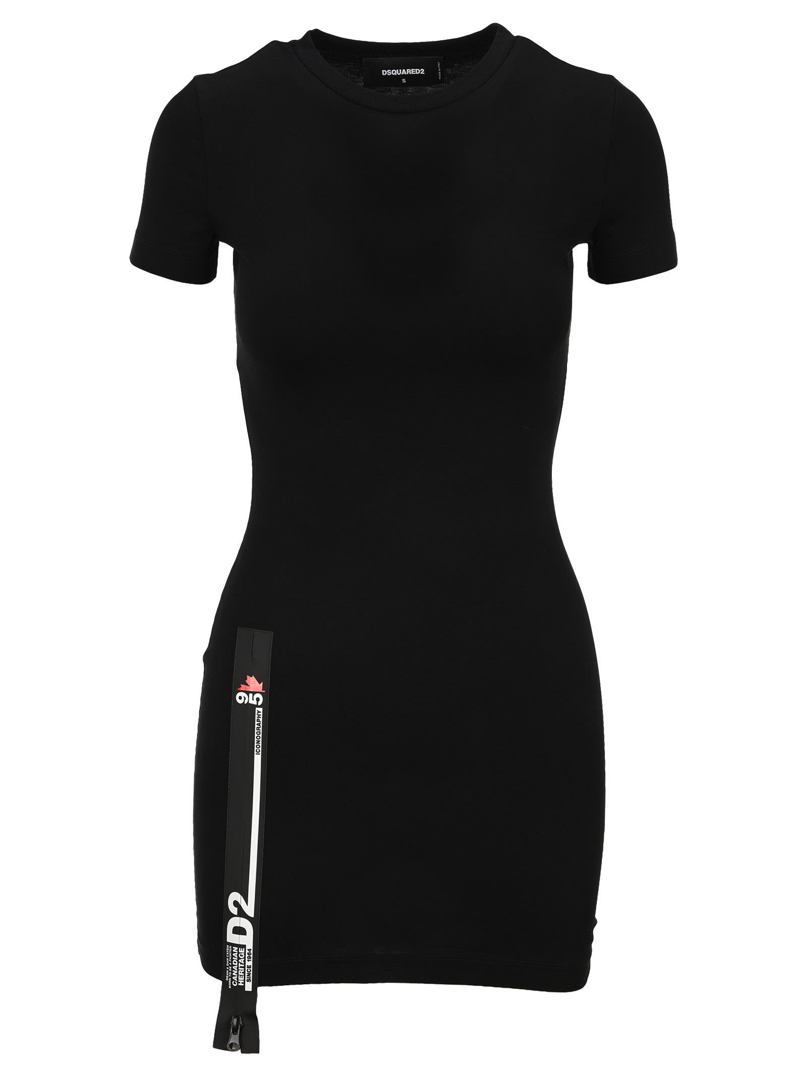 Dsquared2 D SQUARED LOGO TAPE-DETAIL MINI DRESS