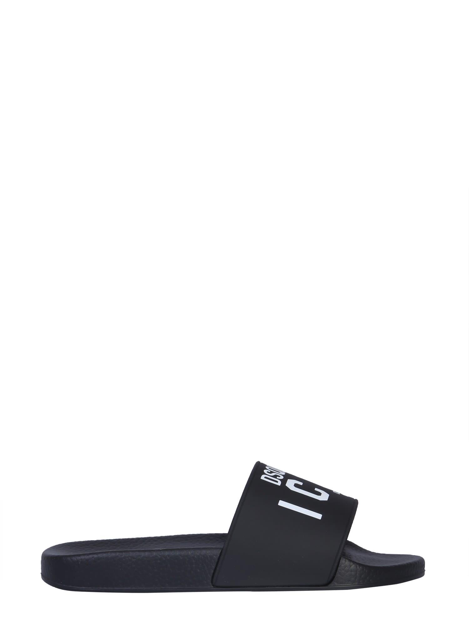Dsquared2 Slide Sandal With Logo