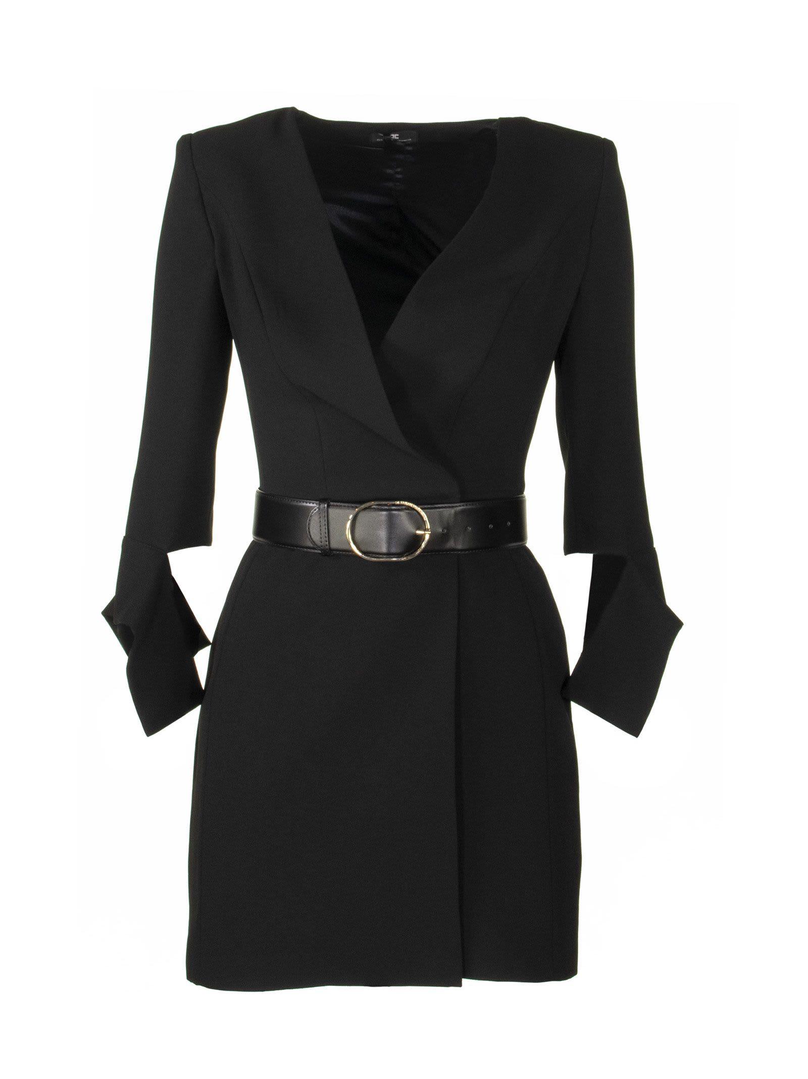 Buy Elisabetta Franchi Celyn B. Mini Dress With Belt online, shop Elisabetta Franchi Celyn B. with free shipping