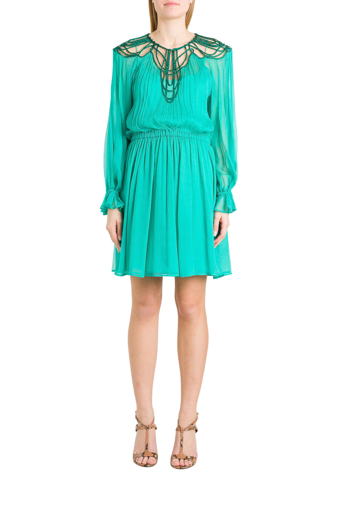 Buy Alberta Ferretti Chiffon Dress online, shop Alberta Ferretti with free shipping