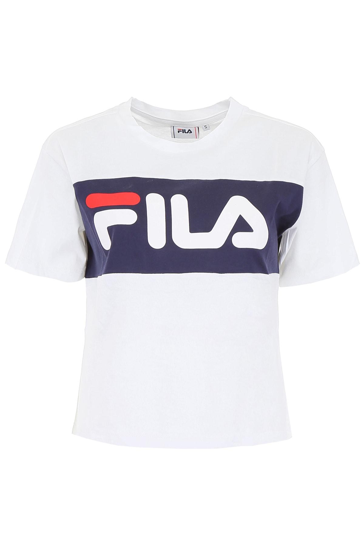 6eade8d2 Fila Fila Allison Logo T-shirt - BRIGHT WHITE BLACK IRIS (White ...