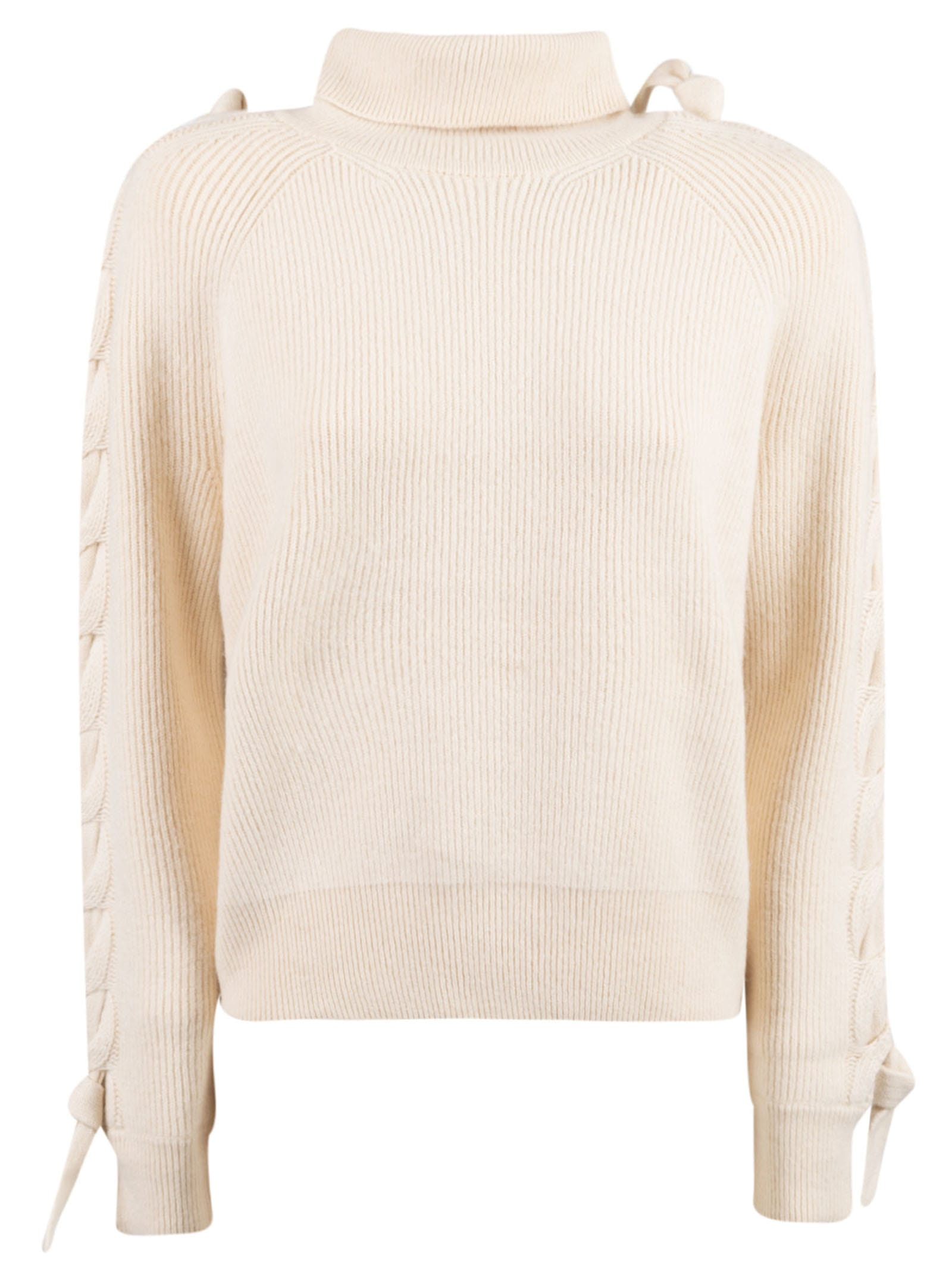 JW ANDERSON CABLE INSERT TURTLENECK SWEATER