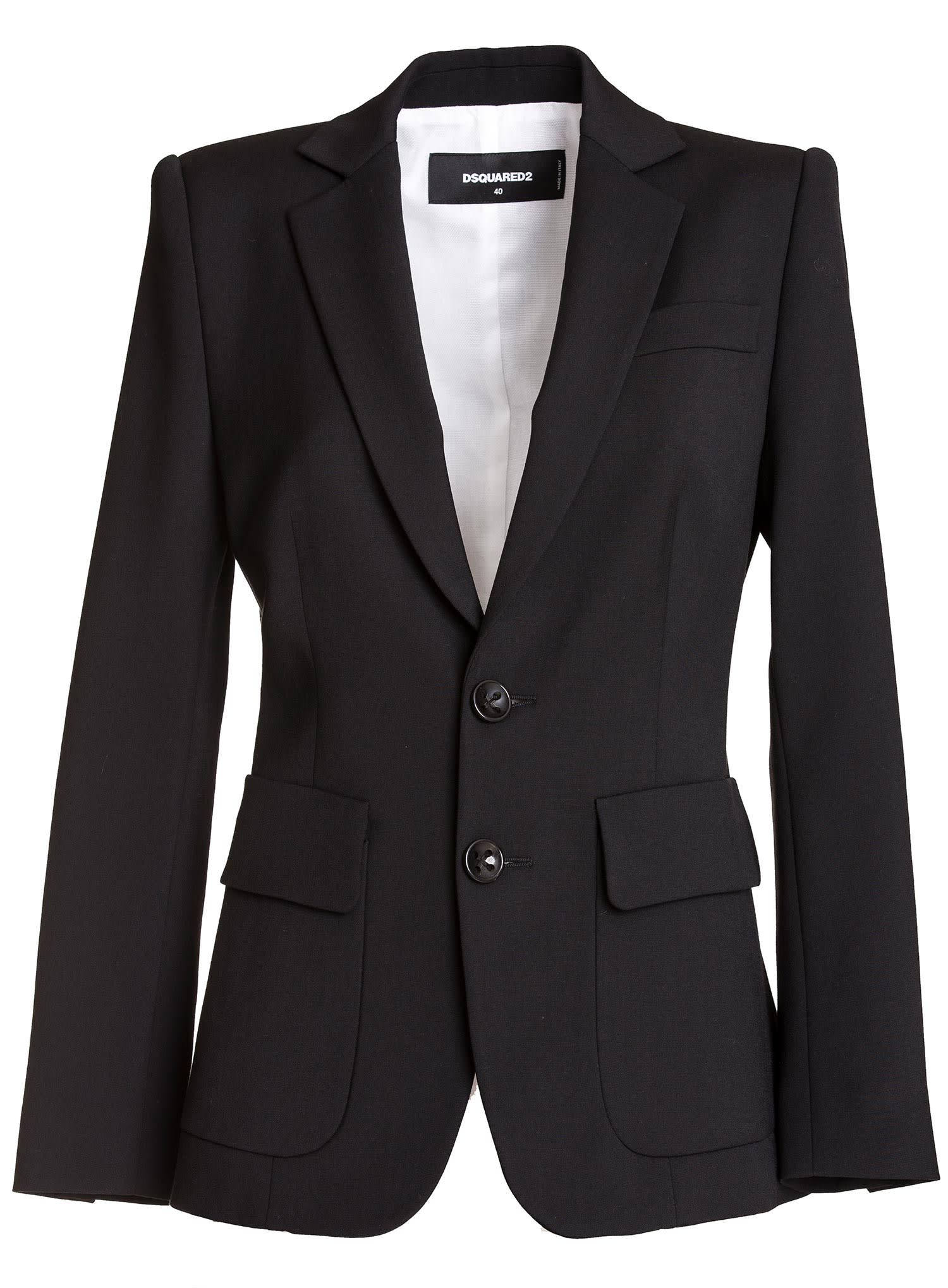 Dsquared Wool Cady Sabrina Blazer In Black