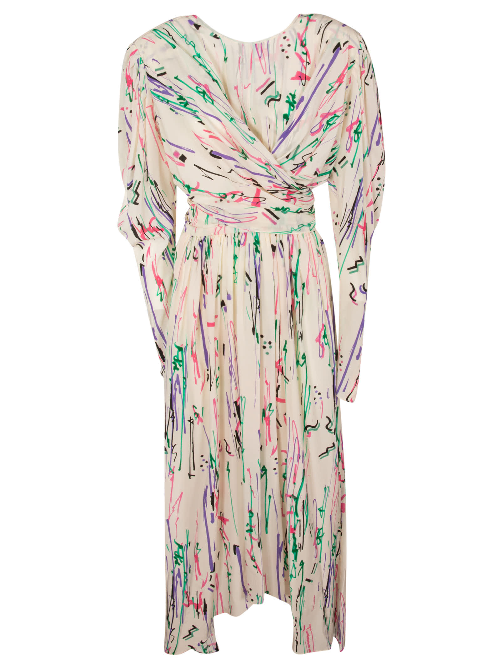Buy Isabel Marant Draped Printed Maxi Dress online, shop Isabel Marant with free shipping