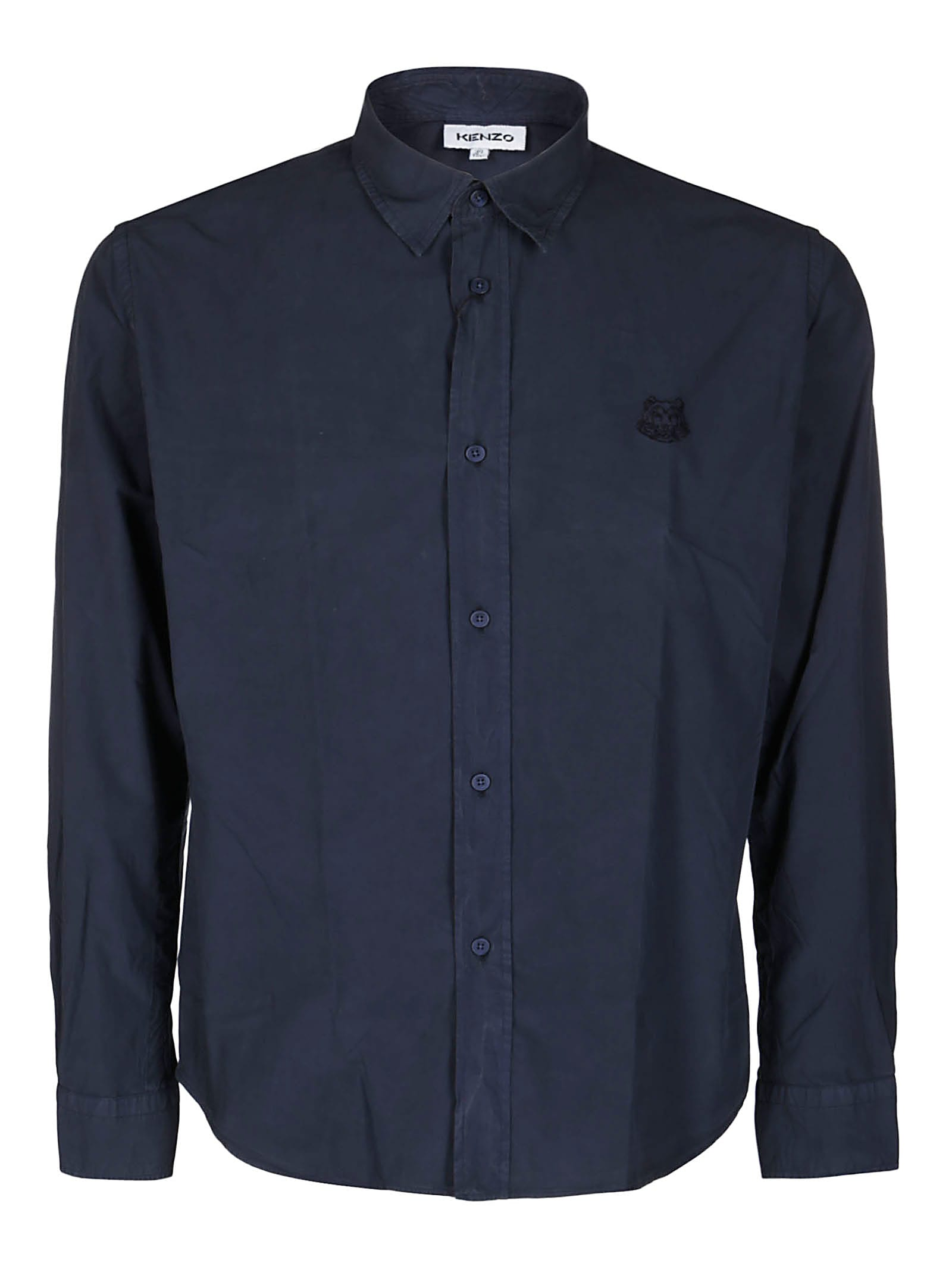 Kenzo Blue Cotton Shirt