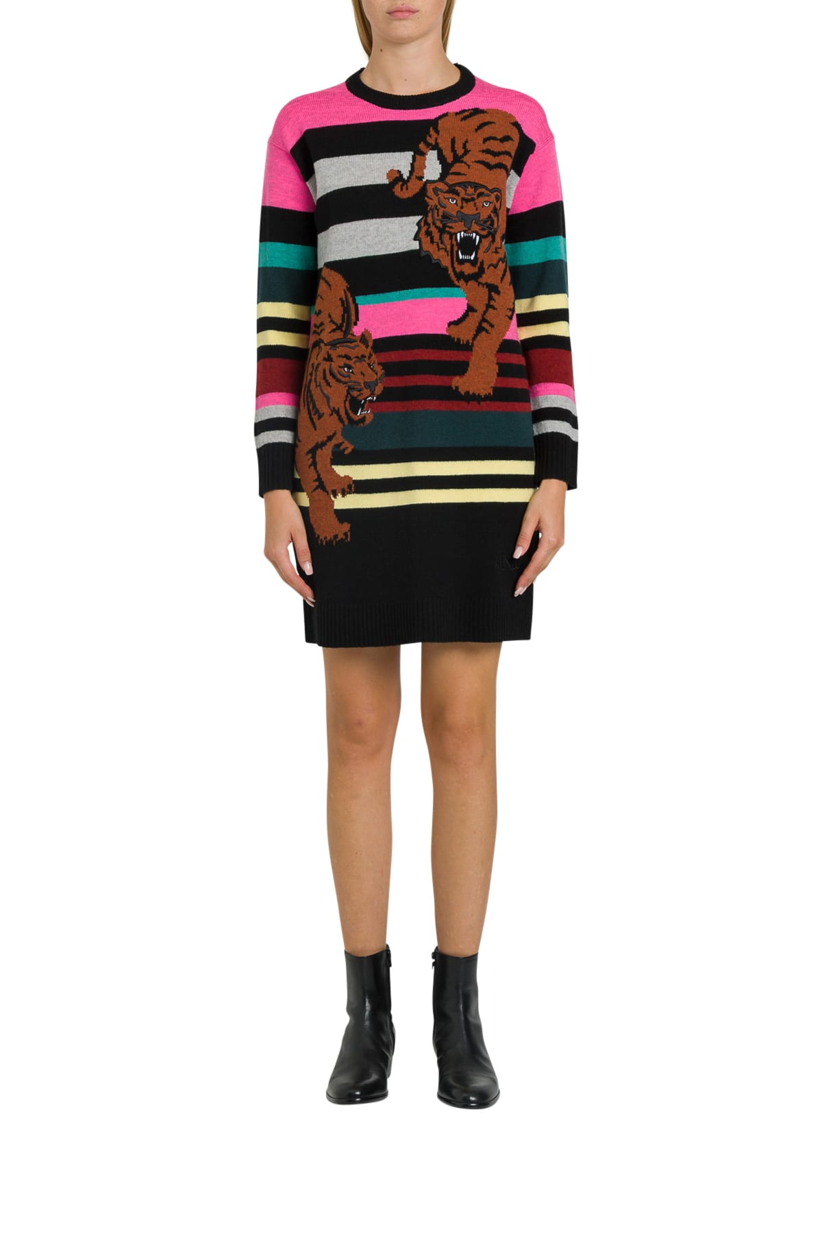 Kenzo Wool Double Tiger Jumper Dress