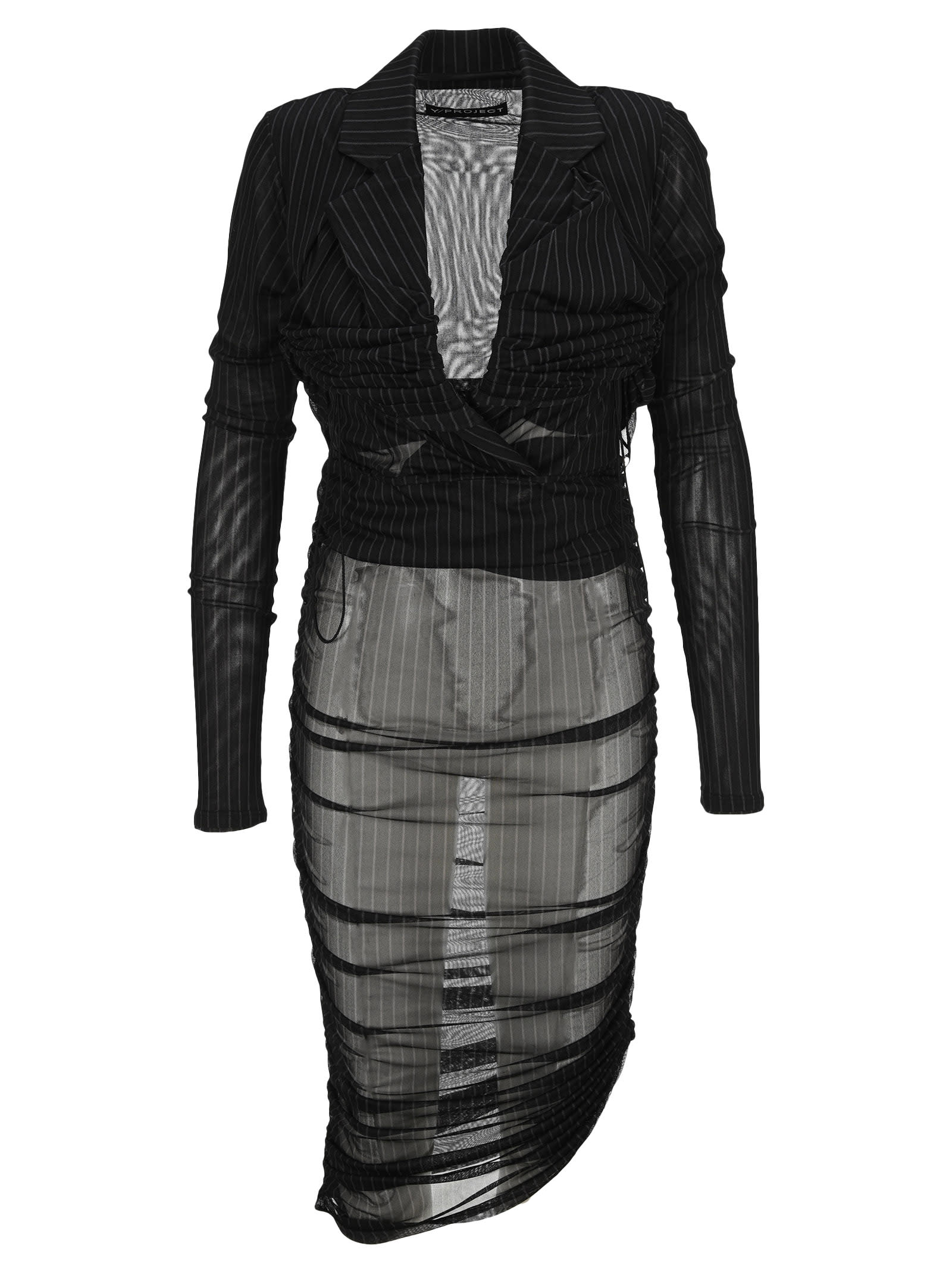 Buy Y/project Deconstructed Fitted Minidress online, shop Y/Project with free shipping