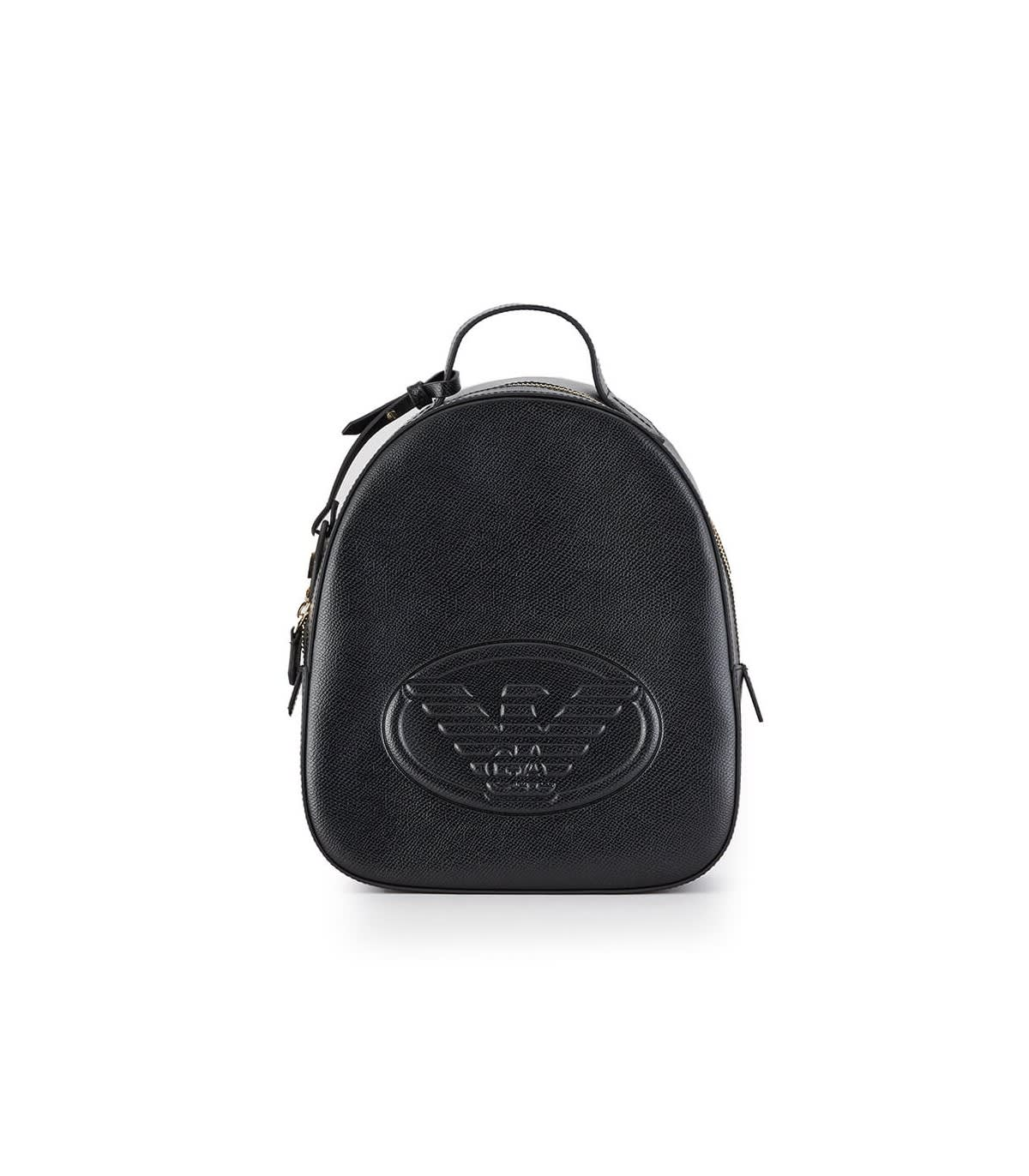 Emporio Armani BLACK BACKPACK WITH MAXI LOGO