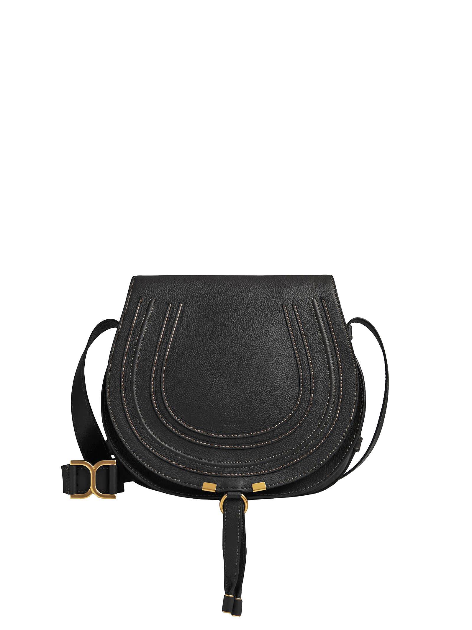 Chloé Marcie Medium Shoulder Bag In Black
