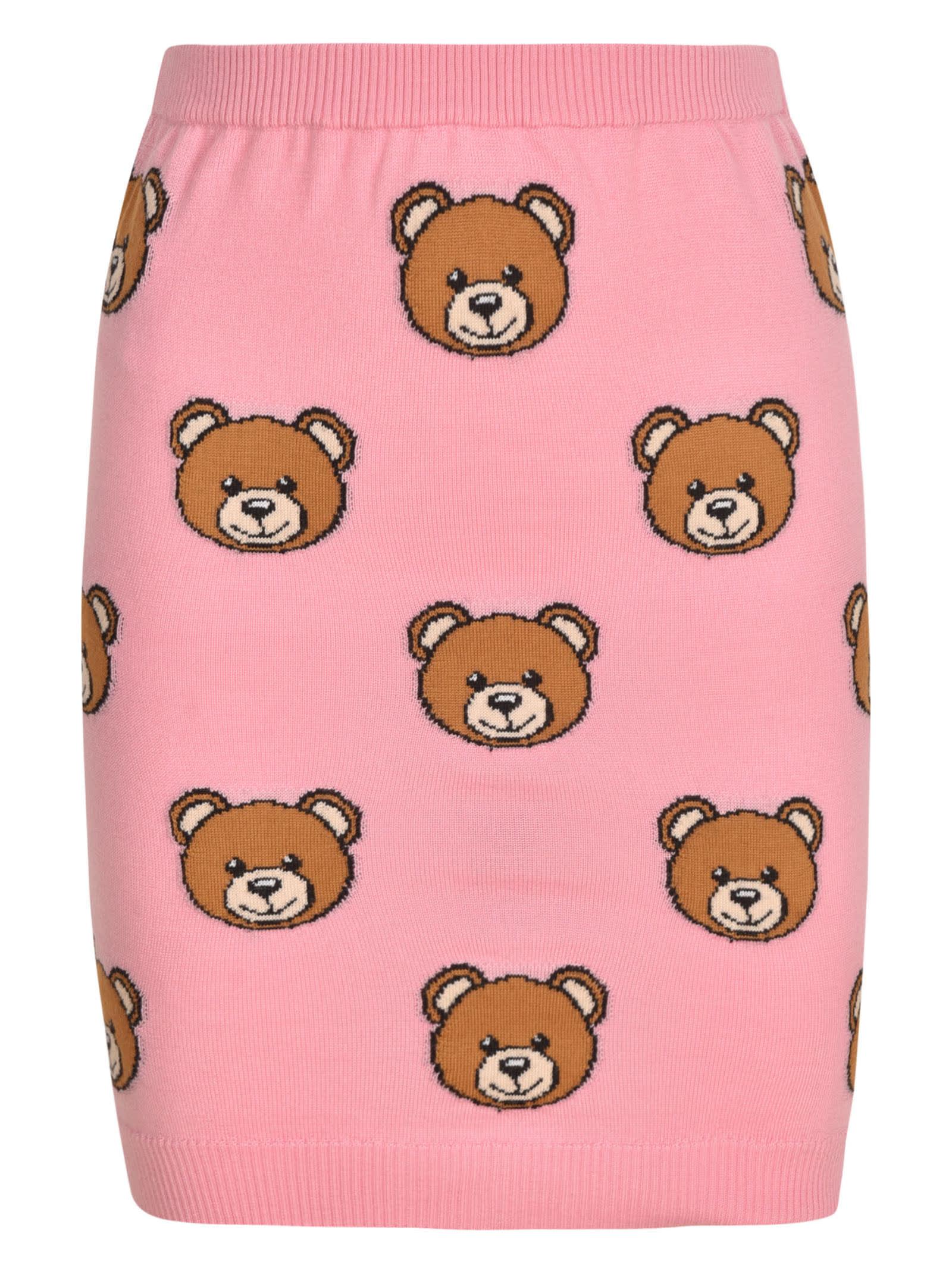 Moschino Bear Skirt In Pink