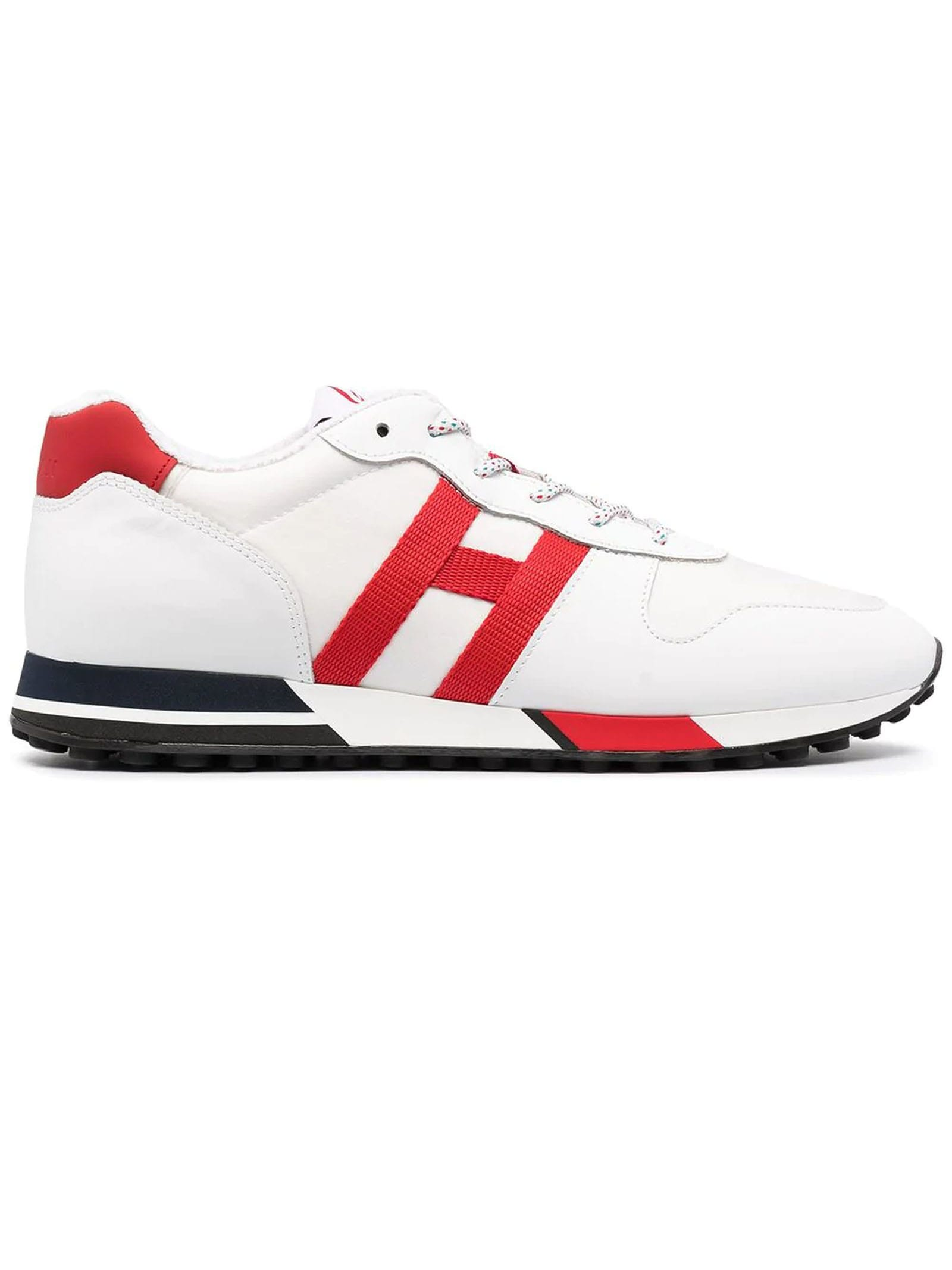 Hogan Leathers WHITE, RED H383 SNEAKERS