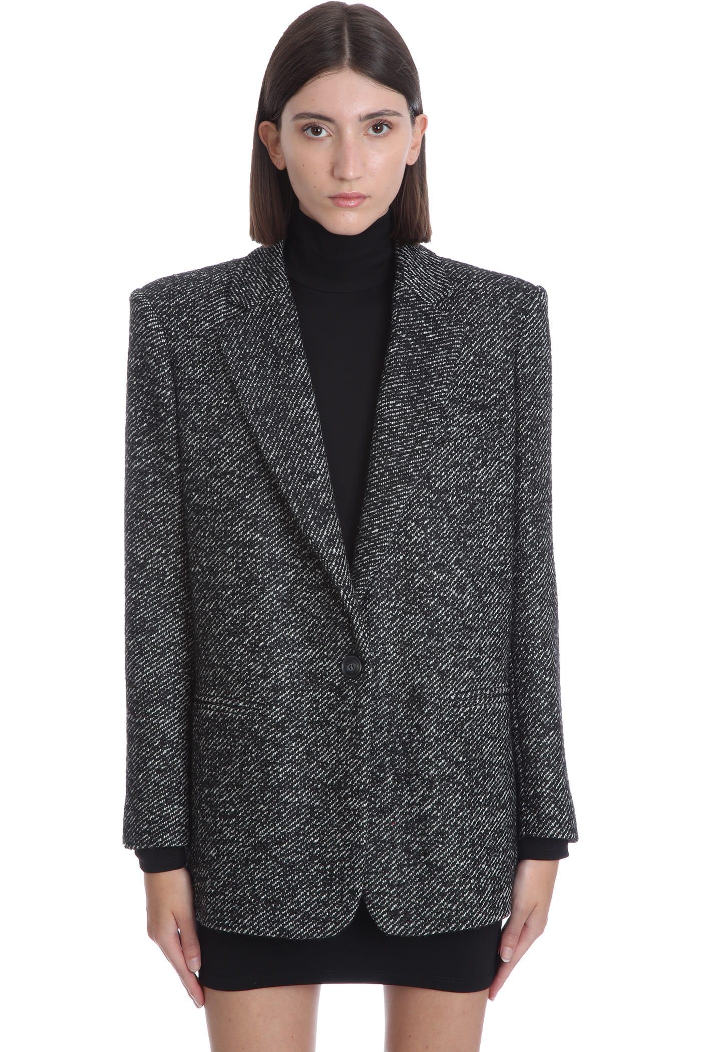 Guia Blazer In Black Wool
