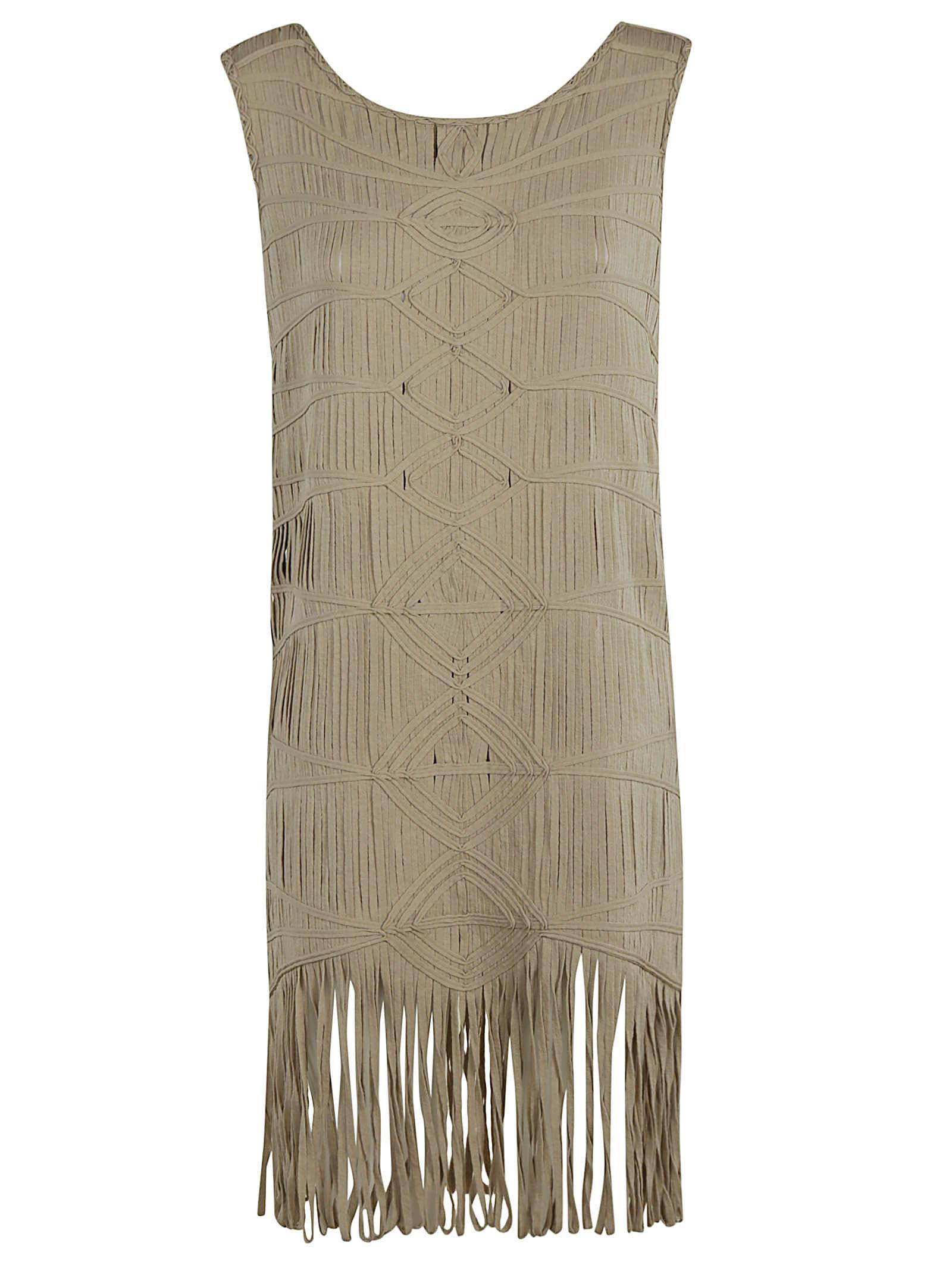 Buy Blumarine Tassel Detail Sleeveless Dress online, shop Blumarine with free shipping