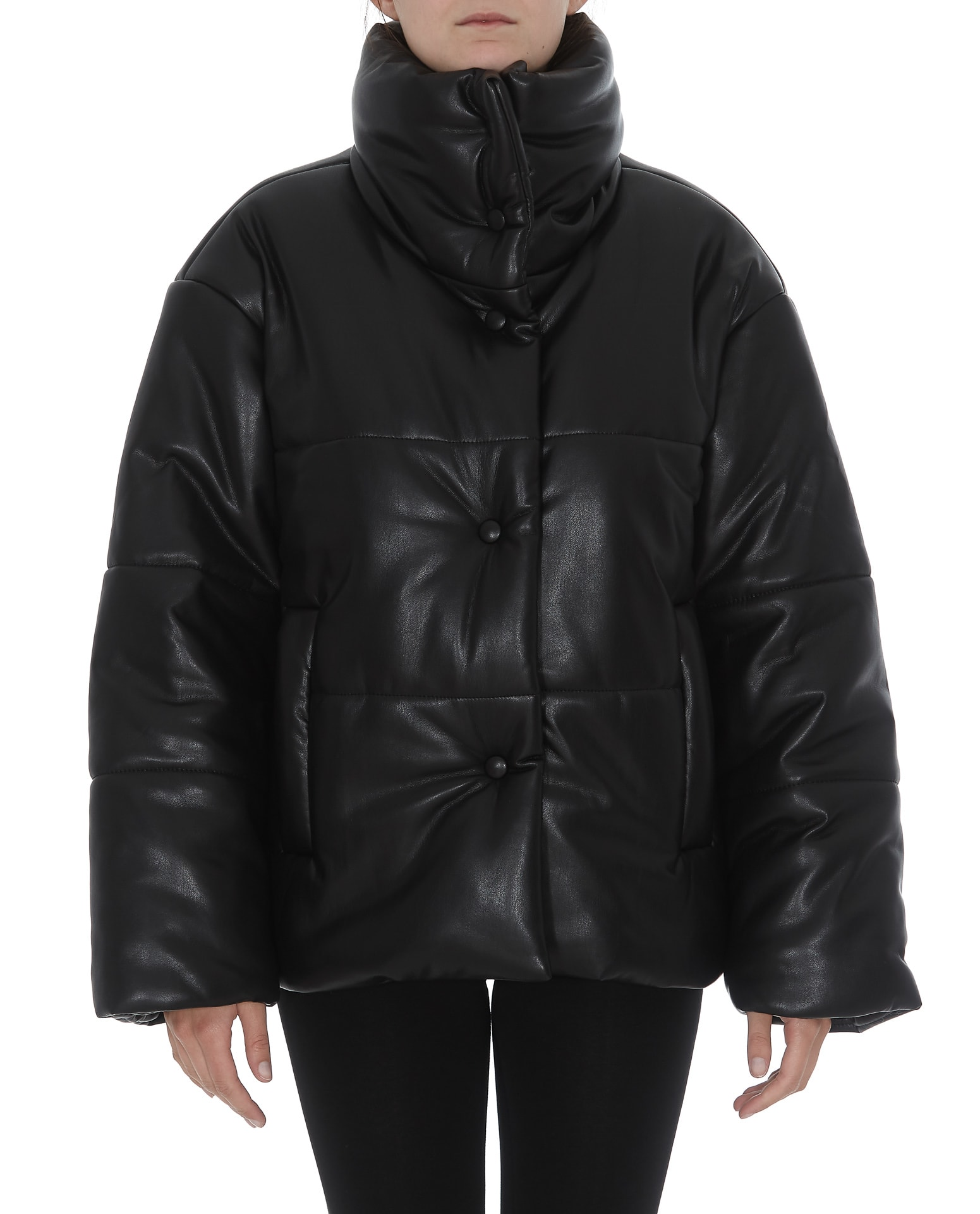 Nanushka Eco Leather Down Jacket