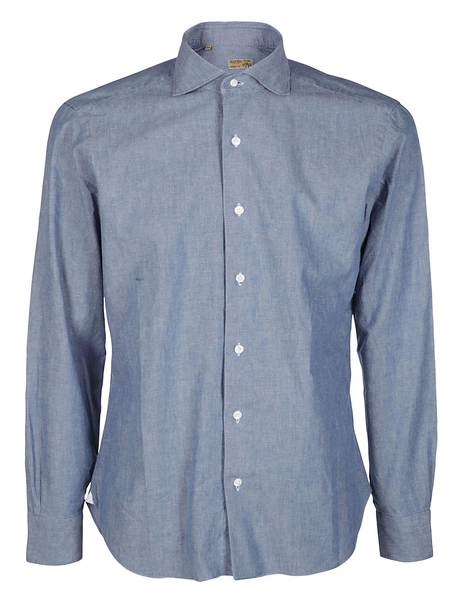 Barba Napoli Blue Cotton Shirt
