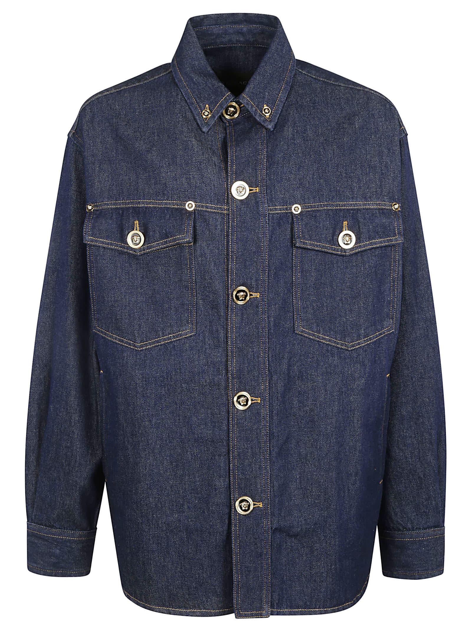 Versace Buttoned Denim Shirt