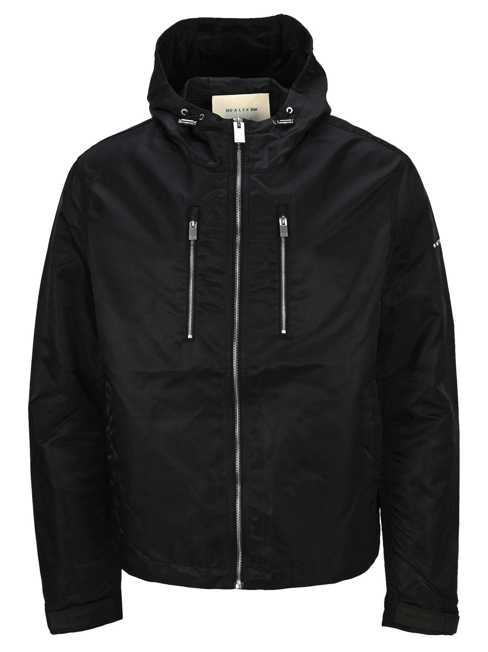 Alyx Hooded Shell Bomber Jacket In Black
