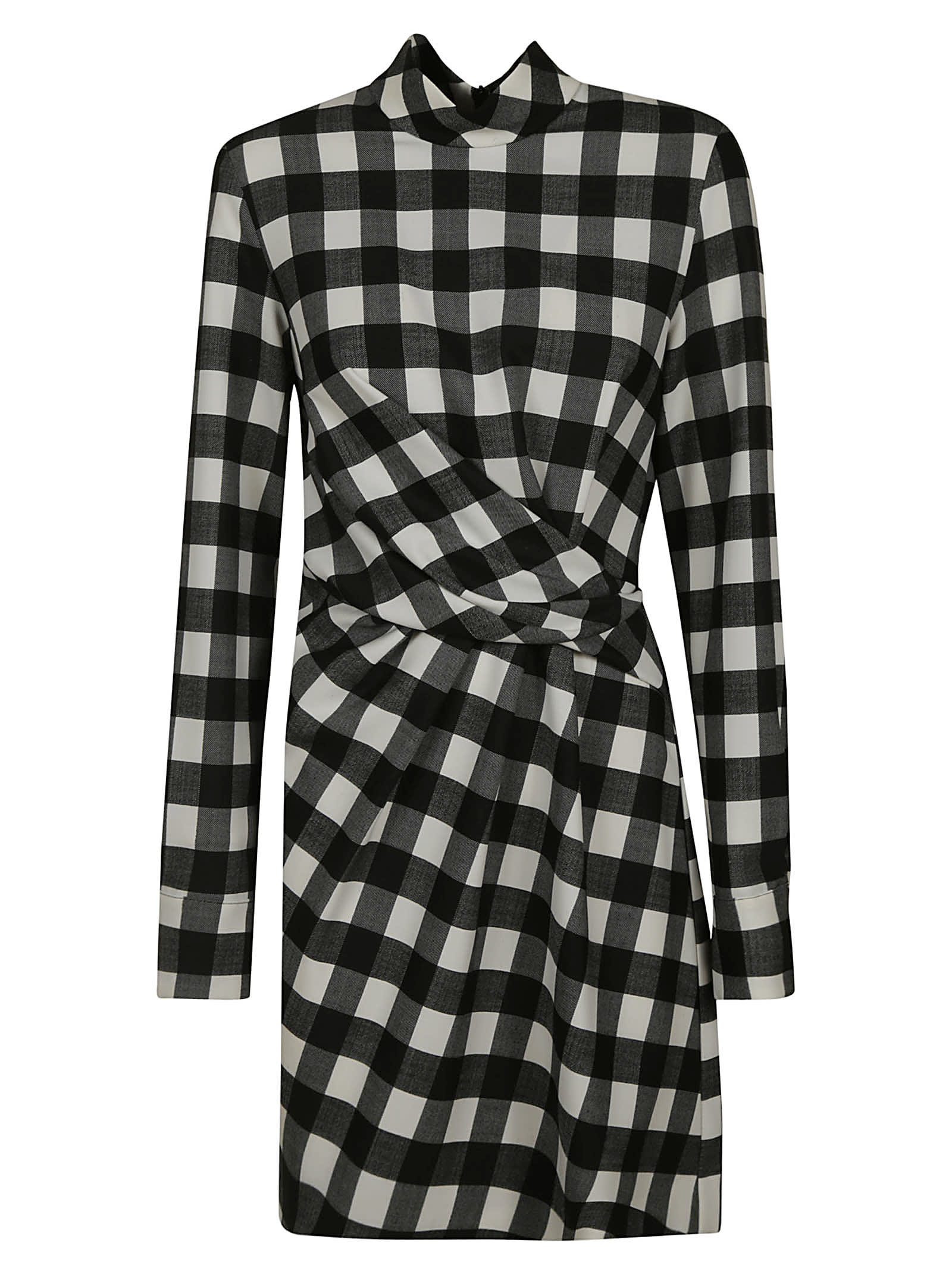 MSGM Check Gathered Dress