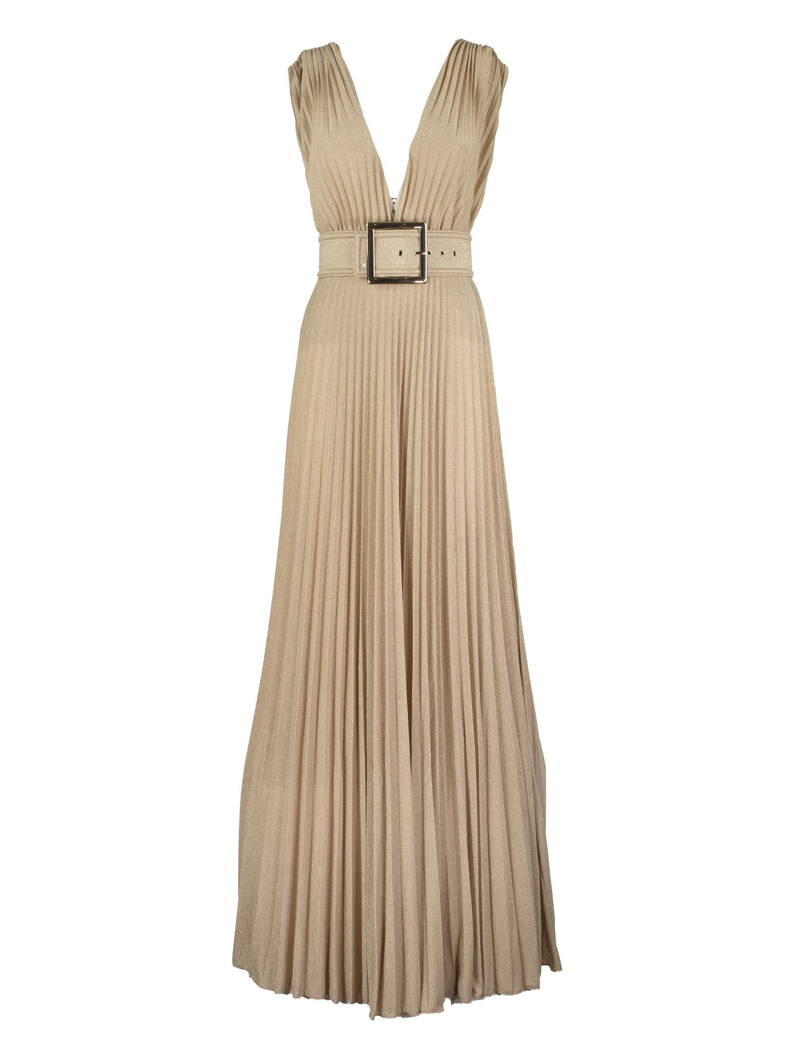 Buy Elisabetta Franchi Celyn B. Maxi Dress With Side Slit online, shop Elisabetta Franchi Celyn B. with free shipping
