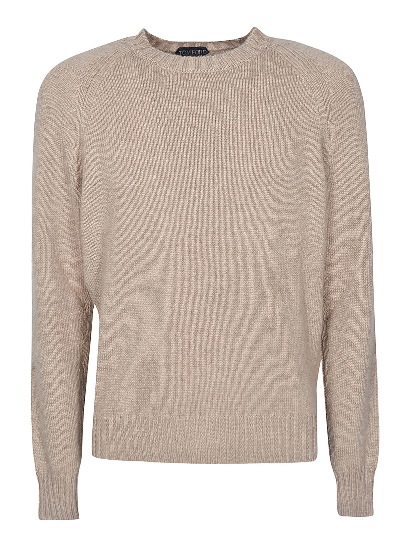 Ribbed Round Neck Sweater