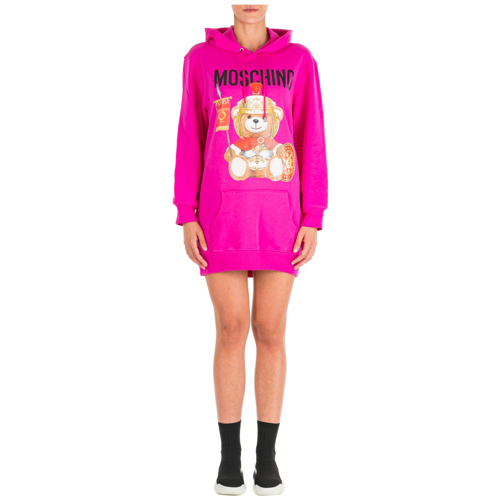 Moschino Sweatshirt Dress Roman Teddy Bear