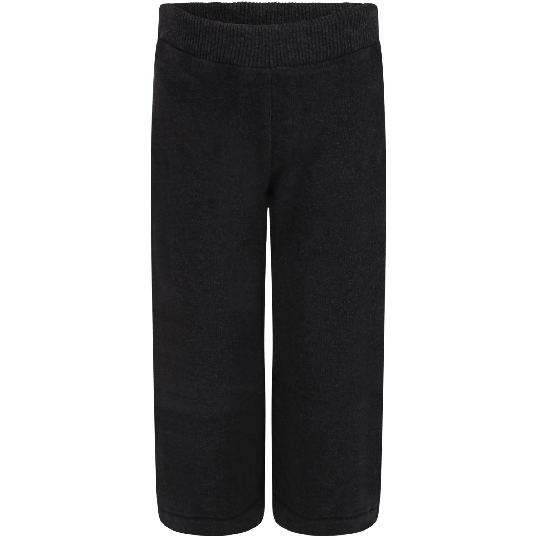 Caffe dOrzo Gray denise Trousers For Girl