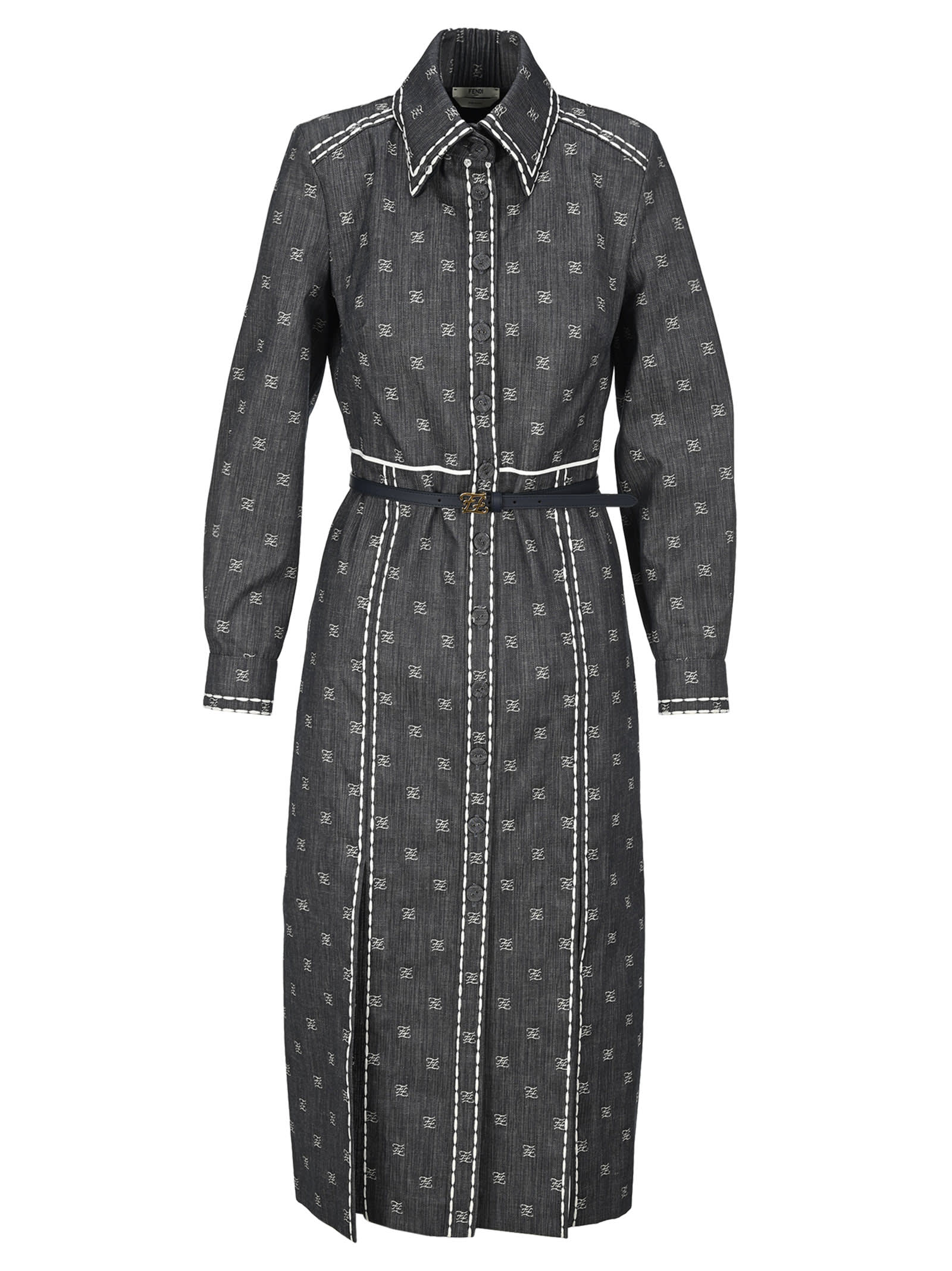Buy Fendi Ff Karligraphy Shirt Dress online, shop Fendi with free shipping
