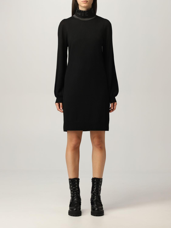 Love Moschino Dress Love Moschino Turtleneck Dress In Wool Blend