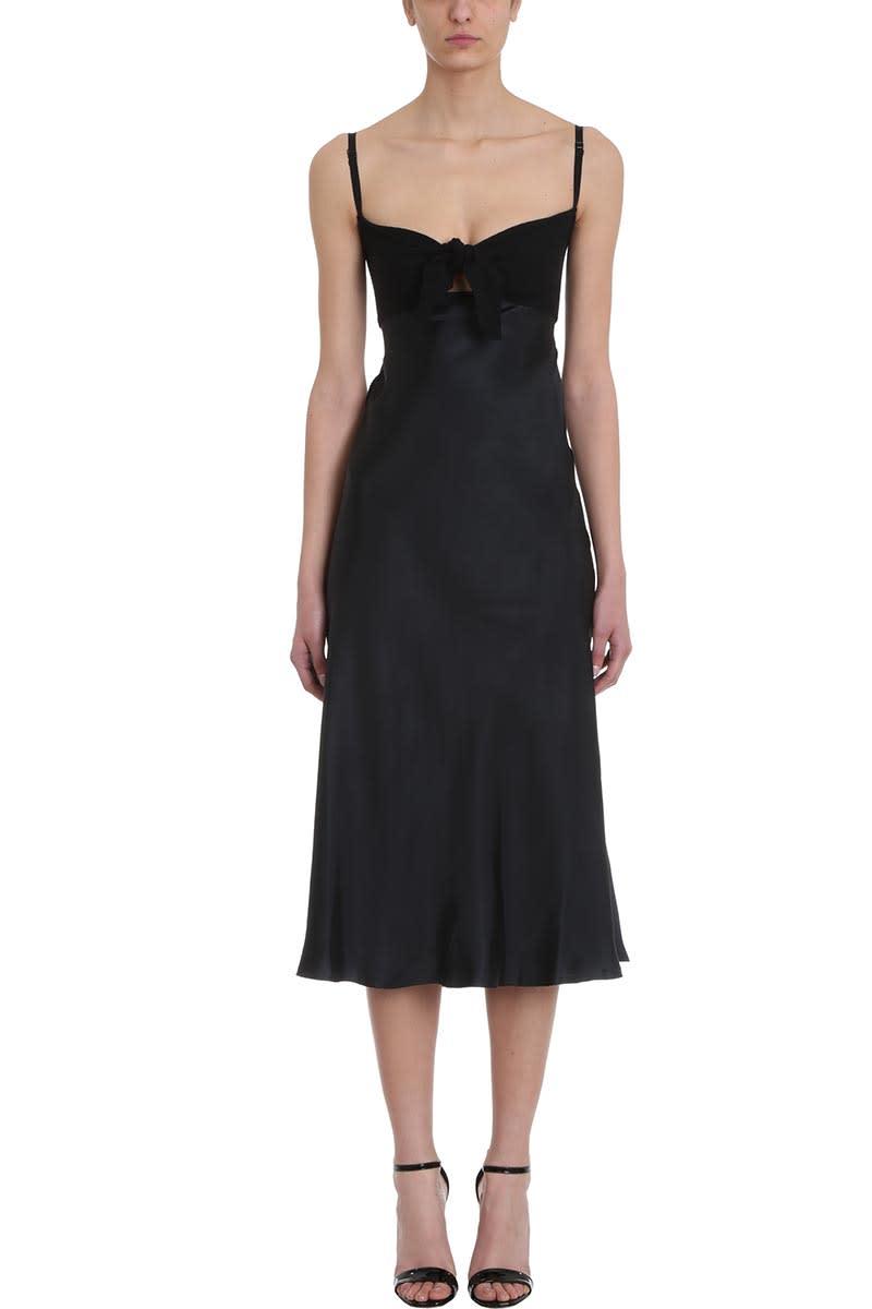 Maison Flaneur Black Cotton And Silk Dress