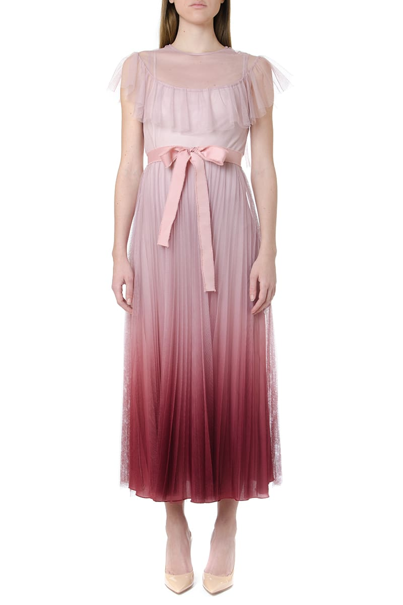 Buy RED Valentino Degradé Effect Tulle Lace Dress online, shop RED Valentino with free shipping