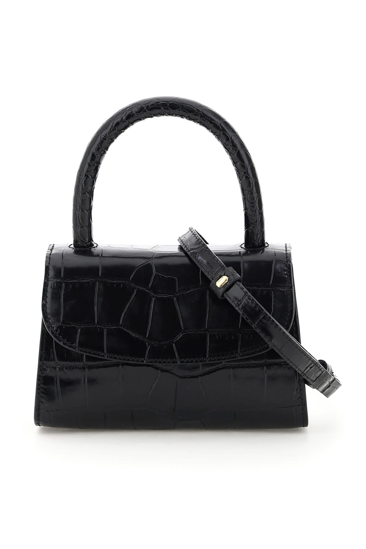 By Far MINI CROC PRINT BAG