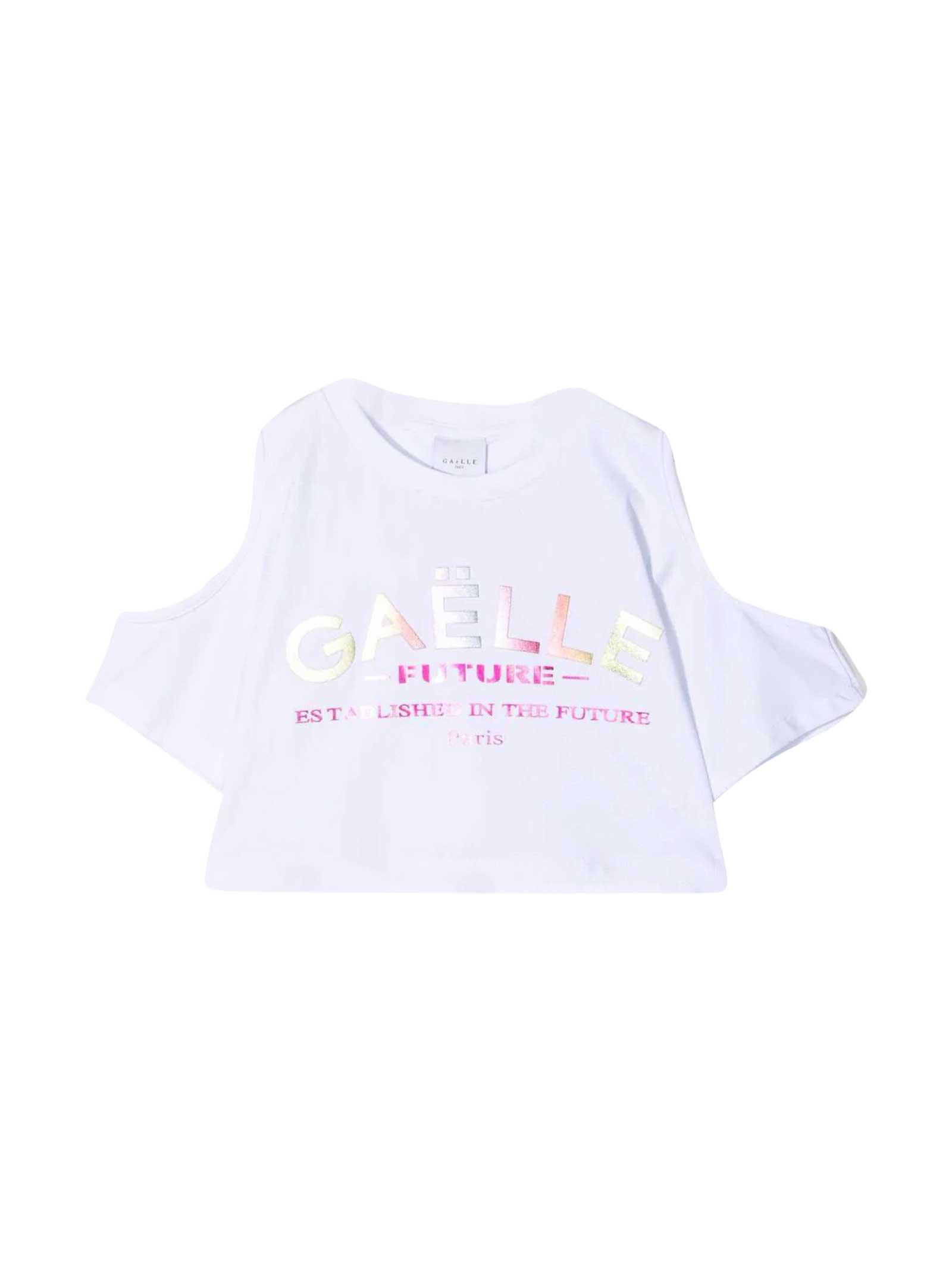 White Short Paris Kids T-shirt