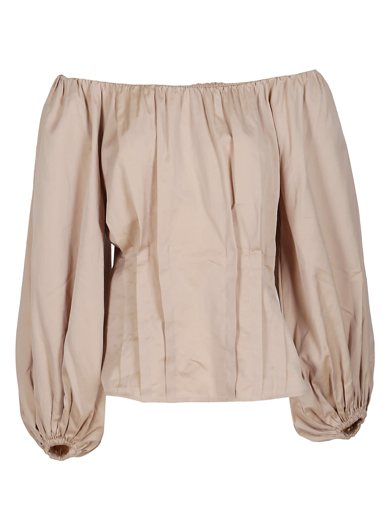 Federica Tosi BROWN COTTON BLOUSE