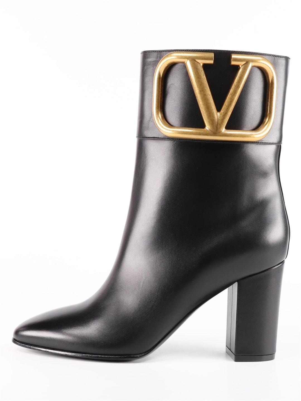 Valentino VLOGO ANKLE BOOT BLACK