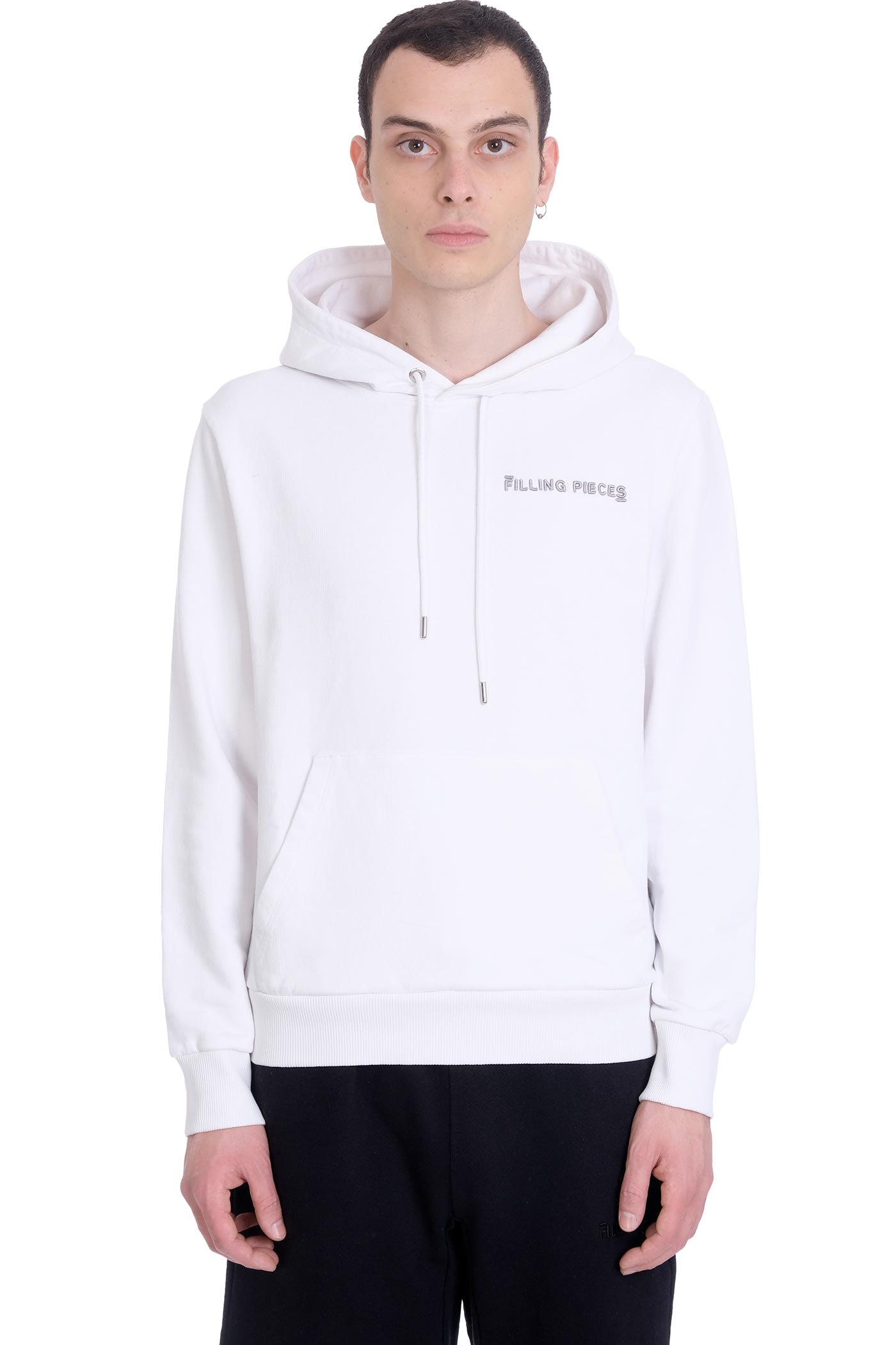 Sweatshirt In White Cotton