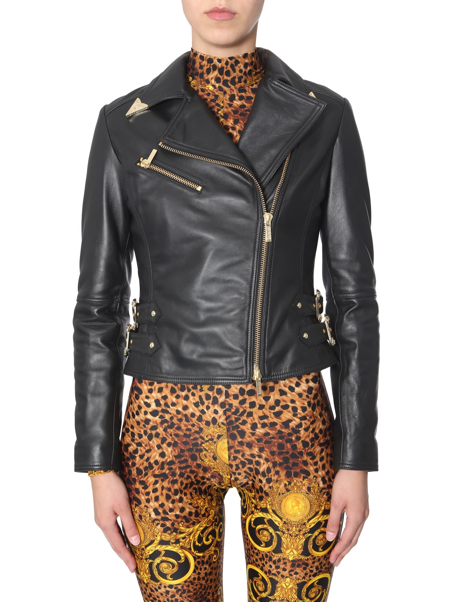 Photo of  Versace Jeans Couture Leather Jacket- shop Versace Jeans Couture jackets online sales