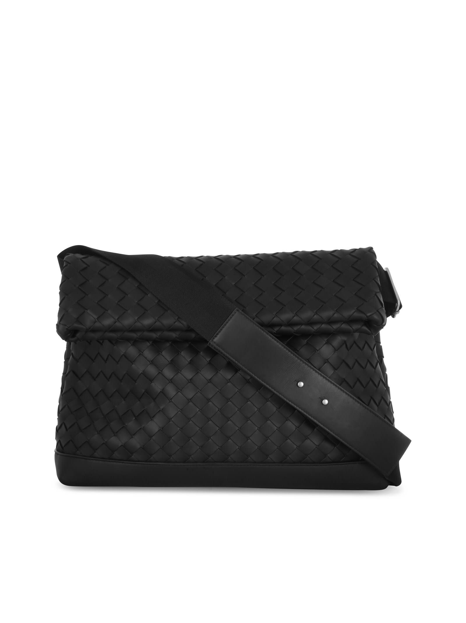 Bottega Veneta Braided 15 Bag In Black Silver