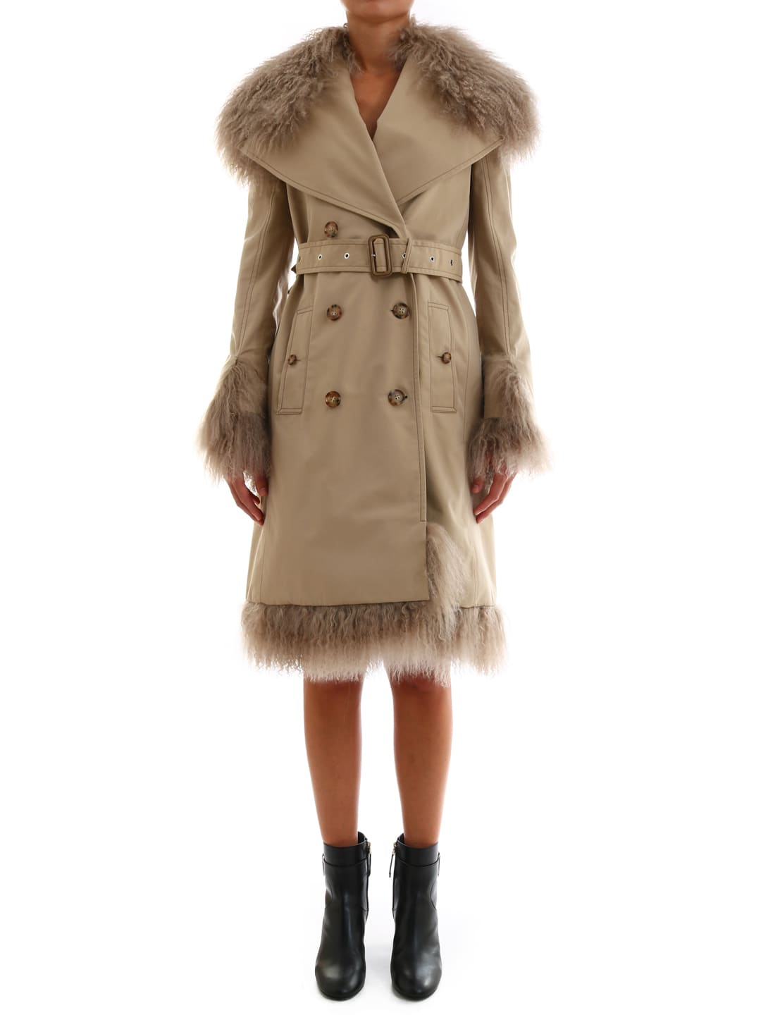 Burberry Trench With Shearling